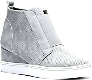 Gc Shoes Women's Raja High Top Wedge Fashion Sneakers