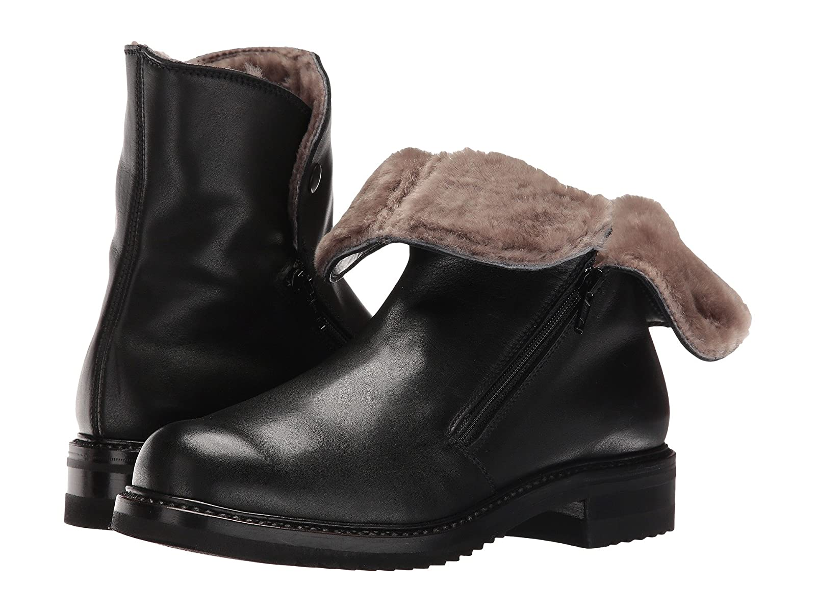 Gravati Double Zip Ankle Shearling Boot With Shearling Ankle Lining 486c43
