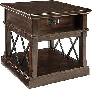 Ashley Furniture Signature Design - Roddinton Rectangularside Table, Dark Brown