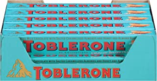Toblerone Milk Chocolate, Crunchy Salted Almond, 3.52 Ounce (Pack of 20)