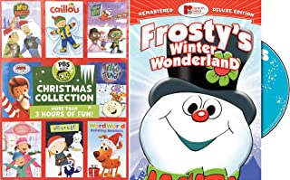 Celebrate Holidays Cartoon Christmas PBS Kids Characters Holiday Pack Caillou / Super Why / Peg + Cat / Ready Jet Go & Frosty Winter Wonderland DVD Animated