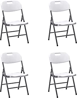 comprar comparacion KitGarden - Pack de 4 Sillas Plegables Multifunciónal, Blanco, Folding
