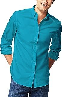 Mens Dress Shirt Button Down Long Sleeve Slim Fit