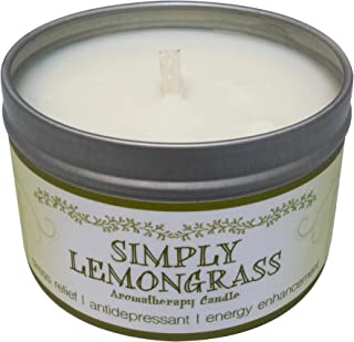 Our Own Candle Company Soy Wax Aromatherapy Scented Candle, Simply Lemongrass, 6.5 Ounce