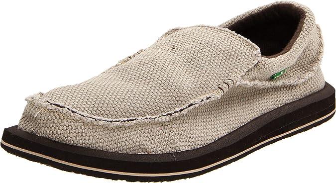7 M US dark brown//natural Sanuk Mens Chiba Loafer Flat