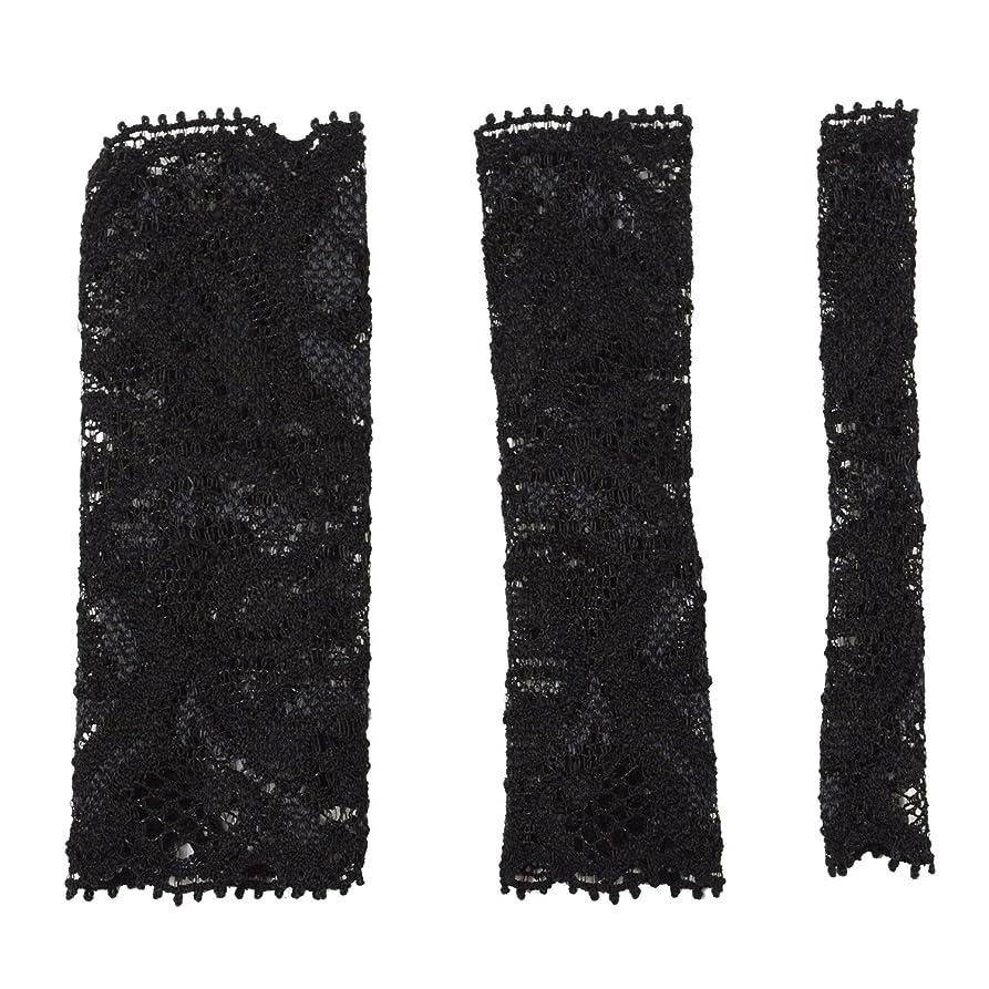 八百屋さん一読み書きのできないBCL500BK 六角館さくら堂 ブラッシュキャップ3枚セット ブラック パウダーブラシ チークブラシ アイシャドーブラシ各1枚 ほこりや汚れからブラシから守る 化粧筆カバー ブラシキャップ ブラシカバー レース 特許申請済レース