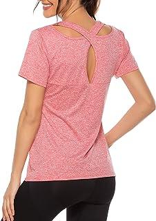 Women's Sleeveless Yoga Tops Activewear Running Workouts Tank Tops Cross Back Sports Shirts Women Yoga Shirt