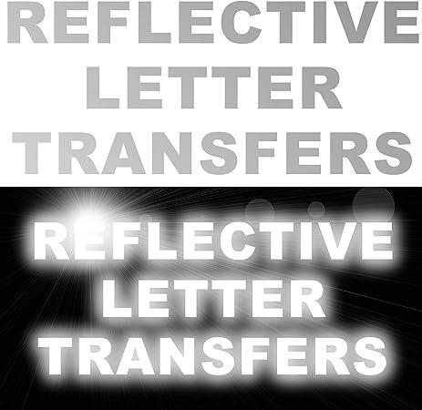Personalisierbare Reflektor Buchstaben Mit Buchstaben Und Zahlen Zum Aufbügeln T Shirts Kleidung Sport 10x Letters At 50mm Height Amazon De