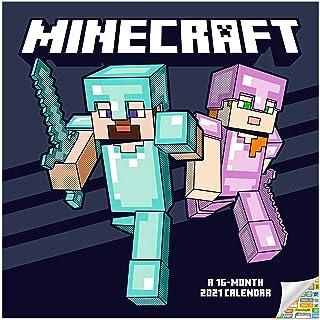 Minecraft Calendar 2021 Bundle - Deluxe 2021 Minecraft Mini Calendar with Over 100 Calendar Stickers (Minecraft Gifts, Off...