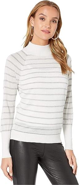 Cream/Silver Stripe