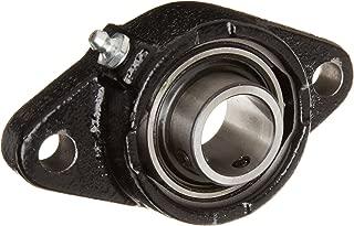 Link-Belt FX3S216E Ball Bearing Flange Unit, 2 Bolt Holes, Intermediate-Duty, Relubricatable, Non-Expansion, Cast Iron, Spring Locking Collar, Inch, 1