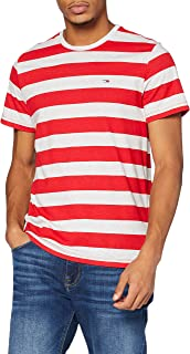 Tommy Jeans TJM Heather Stripe tee Camisa para Hombre