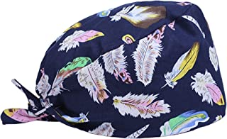 Scrub Cap Surgical Scrub Cap Medical Doctor Bouffant Turban Cap with Sweatband Scrub Hat for Women/Men