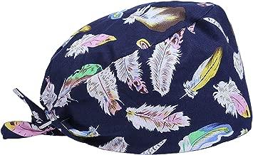 Scrub Cap Surgical Scrub Cap Medical Doctor Bouffant Turban Cap with Sweatband Scrub Hat for Women/Men