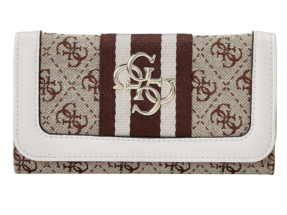 GUESS Vintage SLG Slim Clutch (White) Wallet Handbags