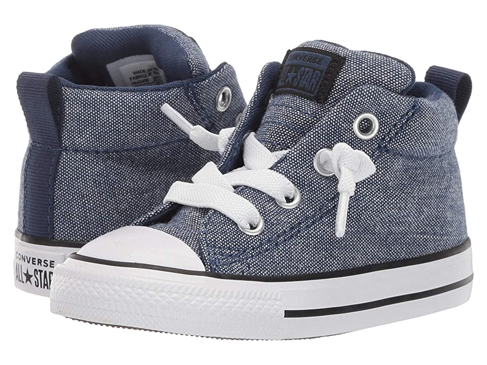 Converse Kids Chuck Taylor All Star Street Urchin Mid (Infant/Toddler) (Navy/Black/White) Boys Shoes
