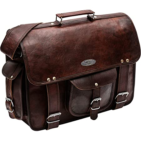 College and School Sale 18 inch Leather Messenger Bag for Men and Women Laptop Briefcase Bag for Office