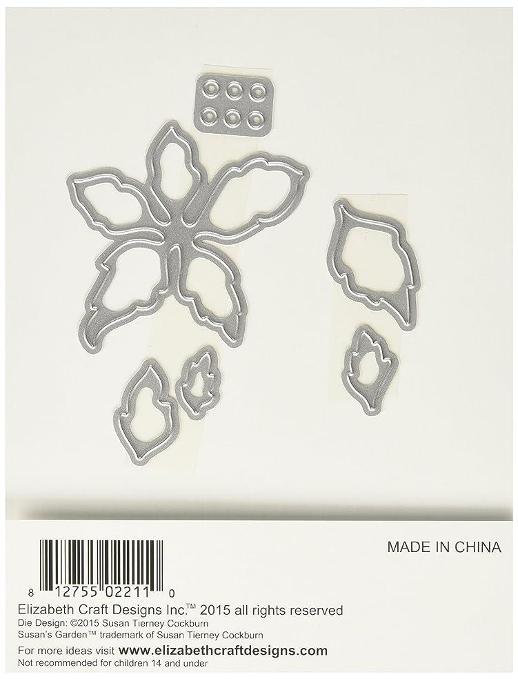 Elizabeth Craft Designs Metal Die-Garden Notes Poinsettia, Grey