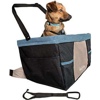 Kurgo Car Pet Booster Seat for Dogs or Cats, Front & Rear Dog Car Seat, Carrier Carseat for Pets, Includes Dog Seatbelt Tether, Helps with Canine Car Sickness