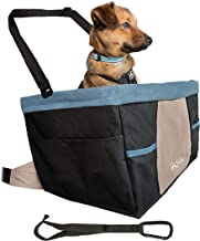 Kurgo Car Pet Booster Seat for Dogs or Cats | Front & Rear Dog Car Seat | Travel Carrier Carseat for Pets | Dog Seatbelt Tether | Helps with Canine Car Sickness | Rover | Skybox | Journey | Heather