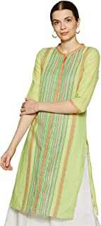 Aurelia Women's Cotton Straight Kurta
