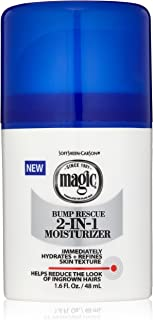 SoftSheen-Carson Magic Shave Bump Rescue 2-in-1 Moisturizer, Face Moisturizer, Reduces the look of Bumps and Ingrown Hair, Formulated for Black Men, with Zinc and Allantoin, 1.6 Fluid Ounce
