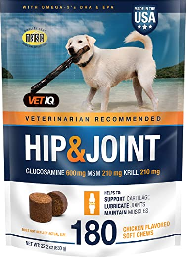 VetIQ Maximum Strength Hip and Joint Supplement for Dogs