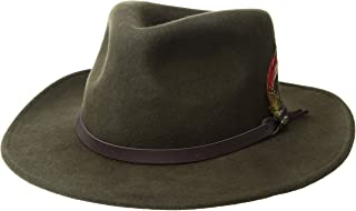 1c580f12de8 SCALA Classico Men s Crushable Felt Outback Hat Wide Brim 100% Wool Felt UV  Protection