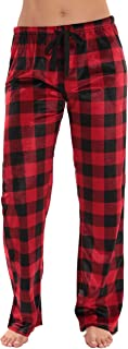 Buffalo Plaid Flannel Pajama Pants for Women with Pockets