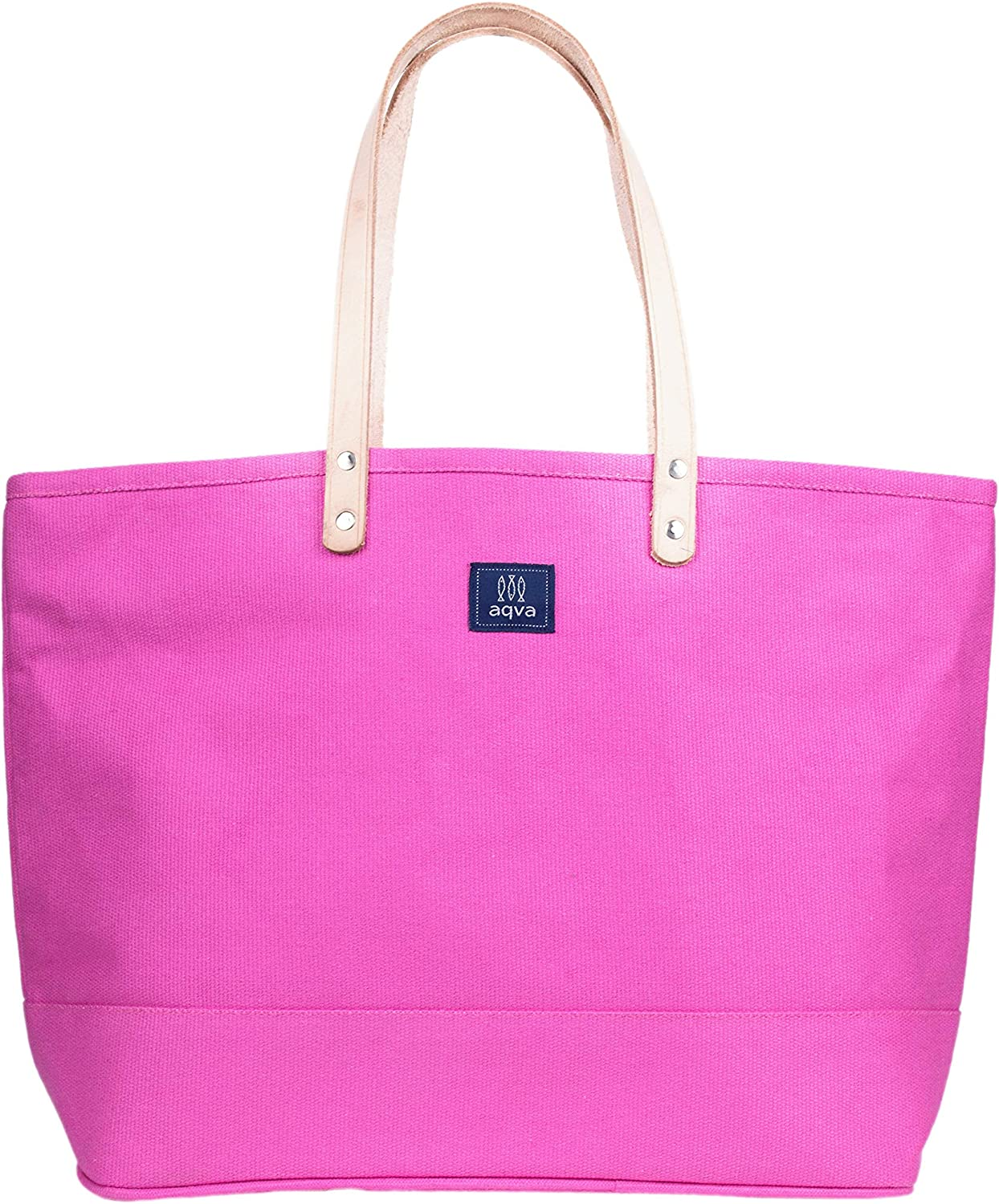 AQVA Women's Solid Heavy Duty Cotton B Tote Bag -Shoulder Canvas Sale Excellent SALE% OFF