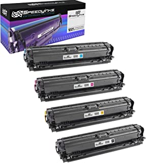 Speedy Inks Compatible Toner Cartridge Replacement for HP 650A (1 Black, 1 Cyan, 1 Magenta, 1 Yellow, 4-Pack)