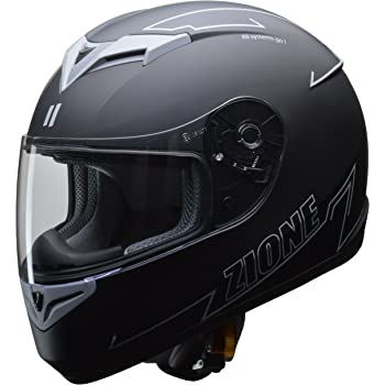 リード工業(LEAD) バイク用フルフェイスヘルメット ZIONE (ジオーネ) グレー Lサイズ (59-60cm未満) -