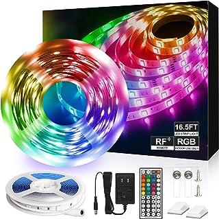 LED Strip Lights 16.4ft LED Light Strip RGB 5050 LED Tape Lights Color Changing LED Strip Lights with RF Remote Led Lights...