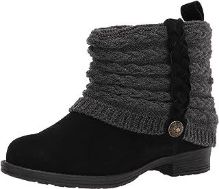 MUK LUKS Women's Kael Boot-Dk Grey Heather Fashion
