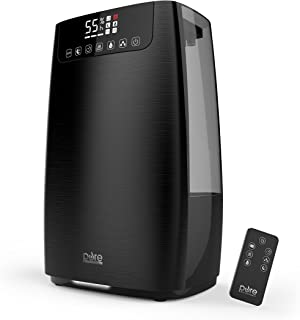 Pure Enrichment HumeXL Pro Warm and Cool Mist Humidifier - Easy-to-Clean 5-Liter Water Tank, Humidity Sensor, Two 360-Degree Rotating Mist Nozzles, Touch-Button Control, LED Display and Remote Control