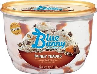 Blue Bunny Frozen Ice Cream, Bunny Tracks, 46 Ounces