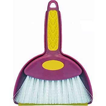 Broom Mini Hand Whisk and Snap-on Dustpan Set (1, Small)