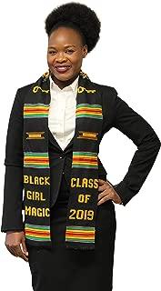 Class of 2019 Kente Graduation Stole - Black Girl Magic