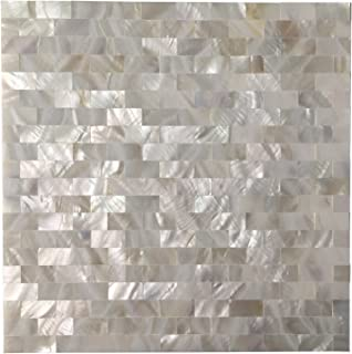 Art3d 6-Pack Mother of Pearl Shell Tile for Kitchen Backsplashes/Shower Wall, 12