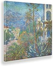 Giallobus - Schilderijen - Claude Monet - Villa in Bordighera - Canvasdoek - 70x70 - Klaar om op te hangen - Moderne schil...