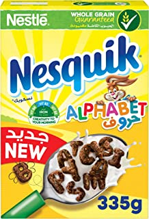 Nesquik Chocolate Alphabets Breakfast Cereal 335g