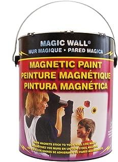 Magic Wall Magnetic Paint Gallon- 128 oz With Bonus Magnets