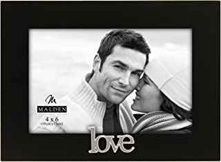 Malden International Designs Love Expressions Picture Frame, 4x6, Black