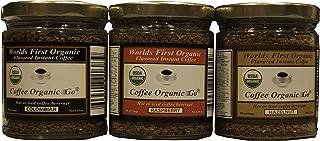 Certified organic instant coffee 3 Jar Special 2.35 oz each jar