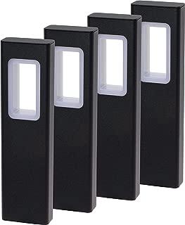 GreenLighting Modern High End Bollard Garden Path Light (Black, 4 Pack)