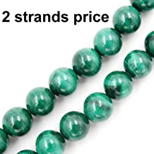 Precious Gemstone Beads for Jewelry Making, 100% Natural AAA Grade, Sold per Bag 2 Strands Inside (Malachite, 6mm)