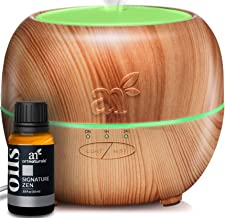 ArtNaturals Essential Oil Diffuser with Signature Zen – (150ml Tank with 10ml Blend) – Ultrasonic Aroma Humidifier - Auto Shut-Off and 7 Color LED Lights –Aromatherapy For Home, Office & Bedroom