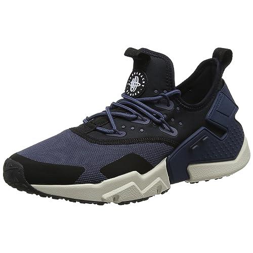87fbf4bbccee Nike Mens Air Huarache Drift Thunder Blue Black Mesh Trainers 9 US