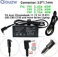 65W/45W/40W Adapter Charger for Acer Chromebook 15 14 13 11 C720 C738T C810,Aspire S5-371 S5-391 S7-191 S7-391 S7-392 S7-393 P3-131 P3-171 R5-471T R5-571TG R7-371T R7-372T V3-331 V3-371 V3-372 V3-372T