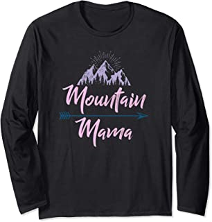 Vintage Distressed Pastel Mountain Mama Long Sleeve T-Shirt